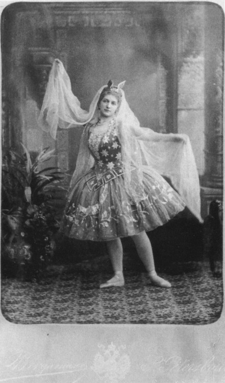 "Mariia Anderson in the ballet ""Cinderella"". St. Petersburg, Russia, 1893."