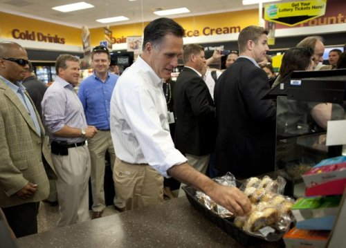 loladelphia:  And now, a haiku. Romney at Wawa Out of touch douchebag, get lost. Don't touch those pretzels! ——————- Please send us your haiku about Romney's visit to Wawa!  Romney lieks teh Wawa's
