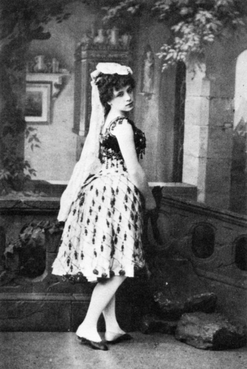 "Virginia Zucchi in the title role of ""Petipa,"" St. Petersburg, Russia, 1886."