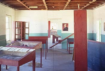 School No. 6 (1993), by Ilya Kabakov Kabakov often created fictional biographies of Soviet Russia as a falling society based on memories from his childhood.