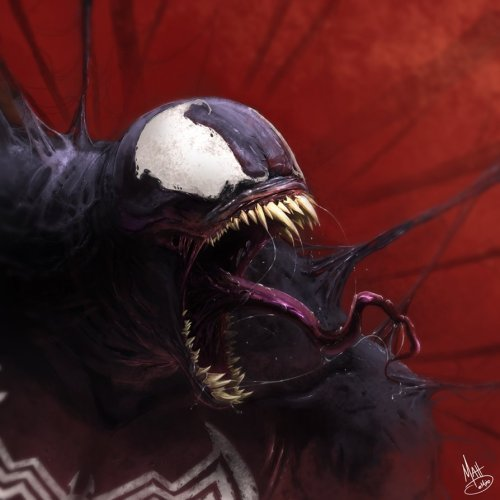 timetravelandrocketpoweredapes:  Venom by Matt DeMino