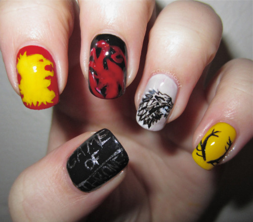 gameofthrones:  I couldn't post this from my other account. Zoenails.tumblr.com