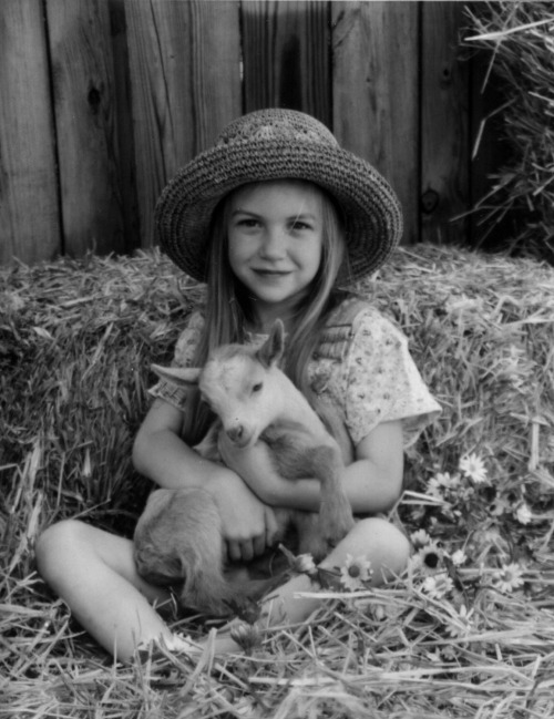 abitofserendipity:  me with a goat before it became a daily occurrence