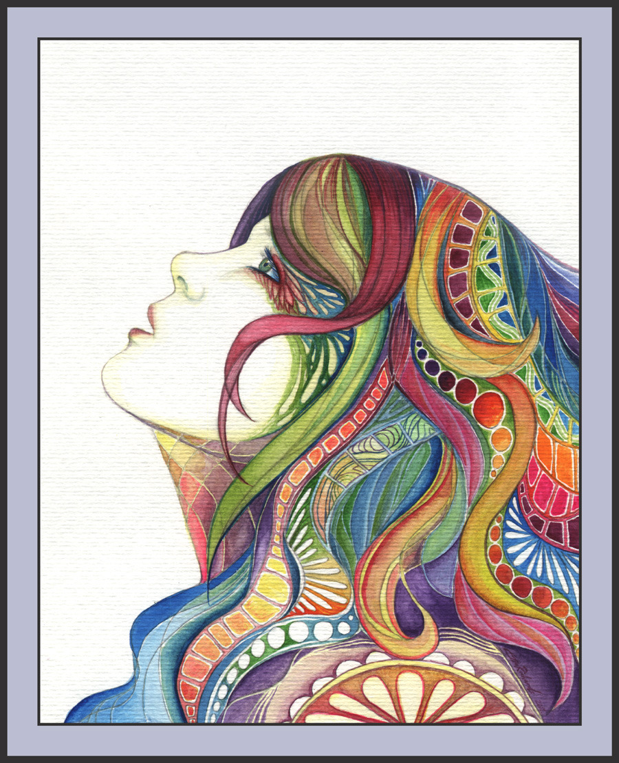 "fabulouslyfreespirited:  ""Patterns in Her Hair"" by pixie-queen"