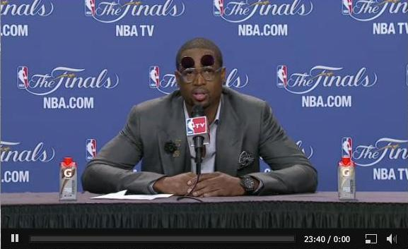 nbaoffseason:  Dwyane Wade with the flip-up monocles. @Suga_Shane