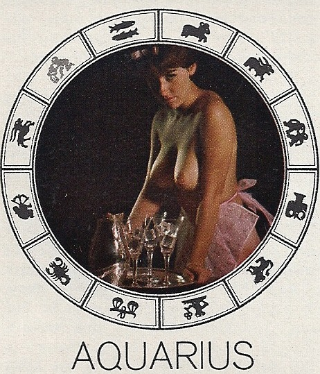 "vintagebooty:  Aquarius, ""Playboy Horoscope"", Playboy - April 1968"