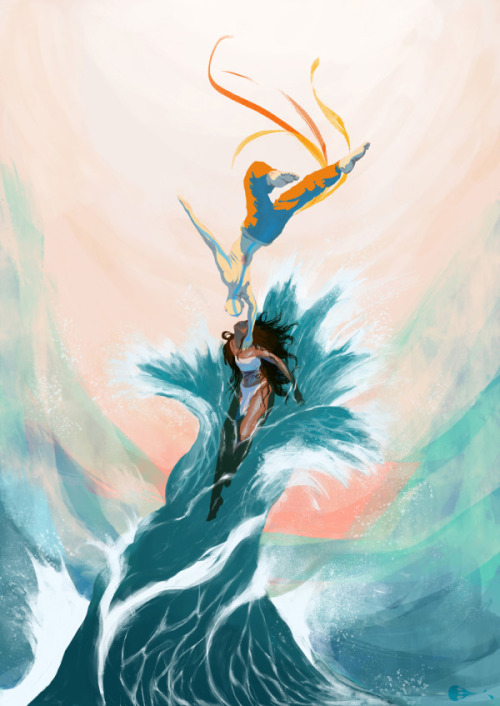 swirlofillustration:  Katara and Aang | Imogen Scoppie