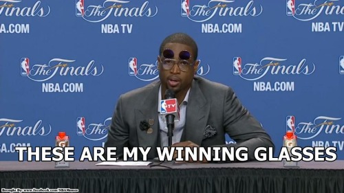 Wade's WINNING glasses!