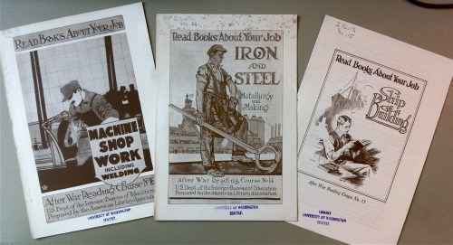 Read Books About Your Job. Published by the U.S. Bureau of Education, 1920's.