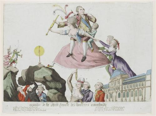 A caricature of the royal family's flight from the Tuileries Palace (C) RMN (Musée du Louvre) / Thierry Le Mage