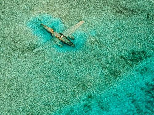 terrestrial-noesis:  Submerged plane in the Bahamas