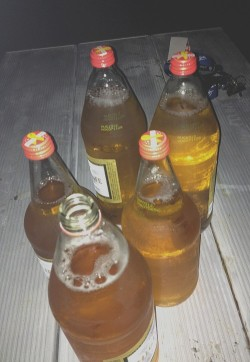 Bottles of urine?