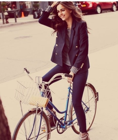 So, let me tell you a little secret: I want to be this girl. Look how chic and put together she looks, just cruising around town! I plan to start this transformation by getting myself a nice, classic navy blazer. The question is - where does one procure one of these in the middle of summer? (Where in SF, by the way, it's TOTALLY appropriate to wear long sleeves, unlike the rest of the country.) I know J.Crew is a good stand-by such classic pieces… any other thoughts? I'm new to the blazer game and would love any insights on where to look! Love, Nik