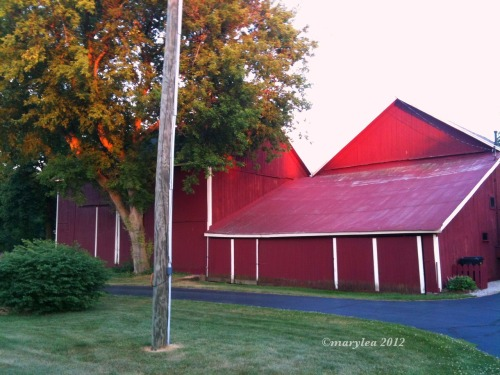 June 9, 2012. Red barn.