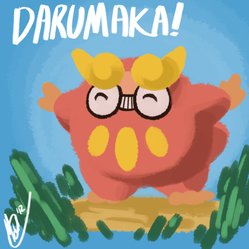Uh, it's a darumaka for Jaime. I don't know what I'm doing. Somehow he got me to draw him a darumaka.