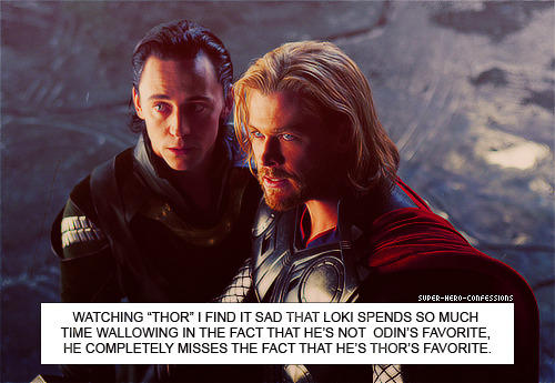 hiddles-me-this:  consultingavengers:  lokisprisoner:  HOLY FUCKING SHIT. YES.        Is he, though? Thor is a dickbag to him!