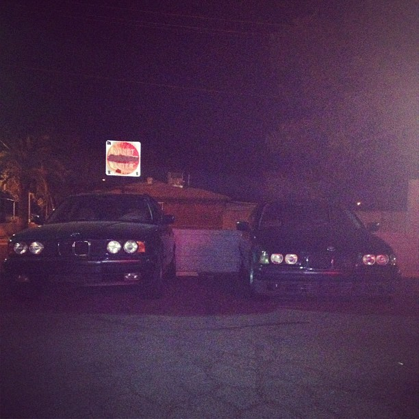 The 3 & 5 series. #bmw #e36 #e34 #wagon (Taken with Instagram)