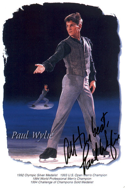 save999things:  #68. Paul Wylie - Schindler's List Olympic silver medalist in 1992, Paul is another stunning skater who can't be defined merely by the medals, because his musicality goes beyond titles, straight to the heart. This program, telling the story of the Holocaust, was performed at the 1994 World Pro, and that spread eagle near the end is just transcendental. Paul Wylie Schindler's list here