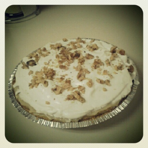 First time making banana creme #pie :) (Taken with Instagram)