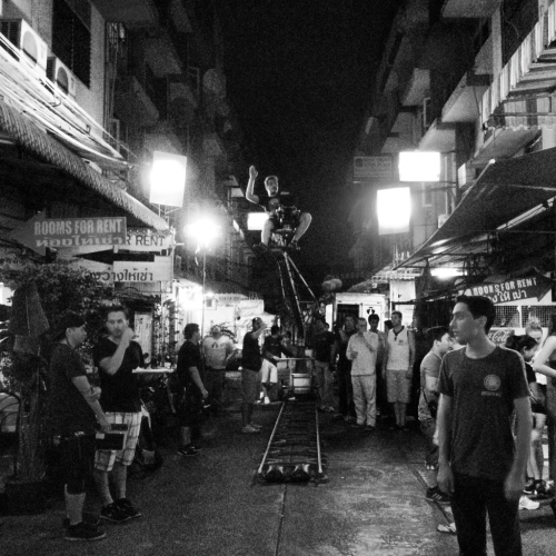 Shooting in the streets of Bangkok. courtesy @jonbryant