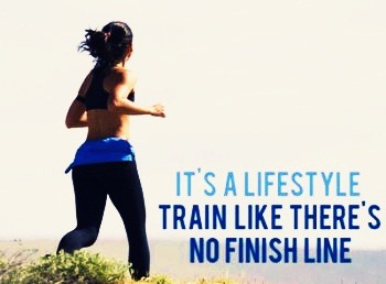 its a lifestyle train like there's no finish line