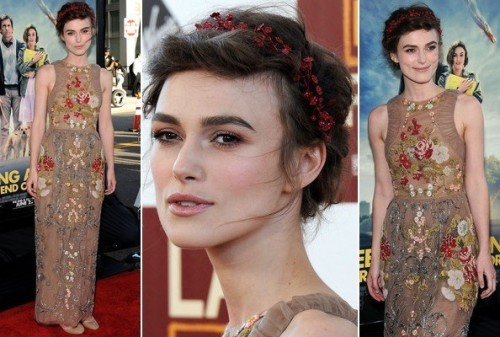 We loved Keira's romantic renaissance look on the red carpet. Her down to earth makeup really emphasised that artistic dress of hers!