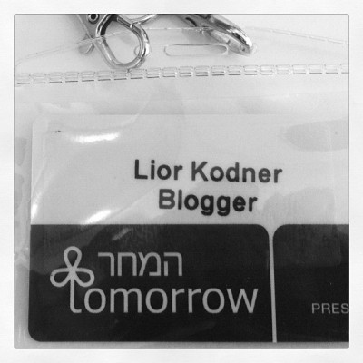 Tomorrow (Taken with Instagram at #tomorrow12, Jerusalem)