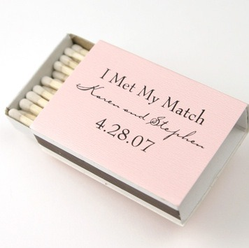 "Cute pun! ""I've me my match"" save the date"