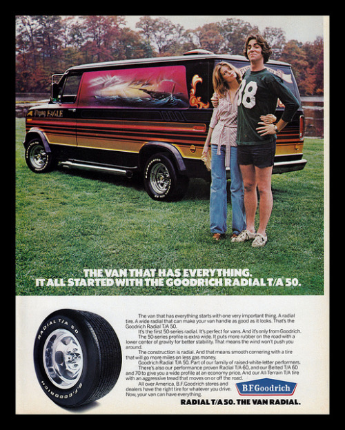 B.F. Goodrich Tires, 1977 by Cosmo Lutz on Flickr.B.F. Goodrich Tires, 1977
