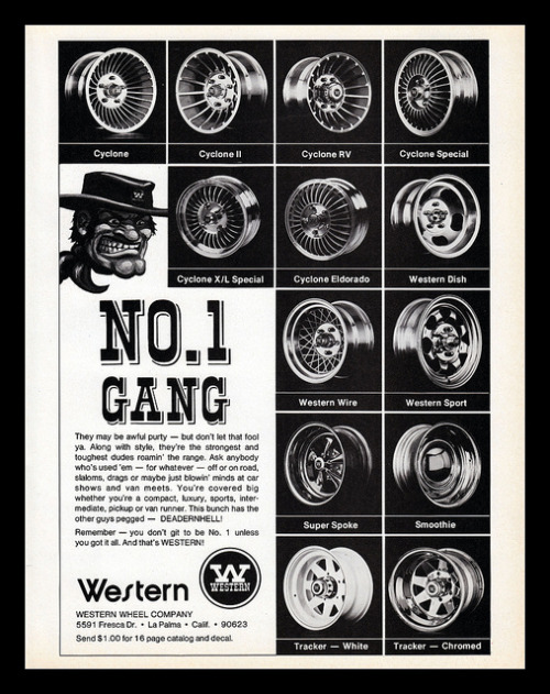 chromjuwelen:  Western Wheels, 1977 by Cosmo Lutz on Flickr. Western Wheels, 1977