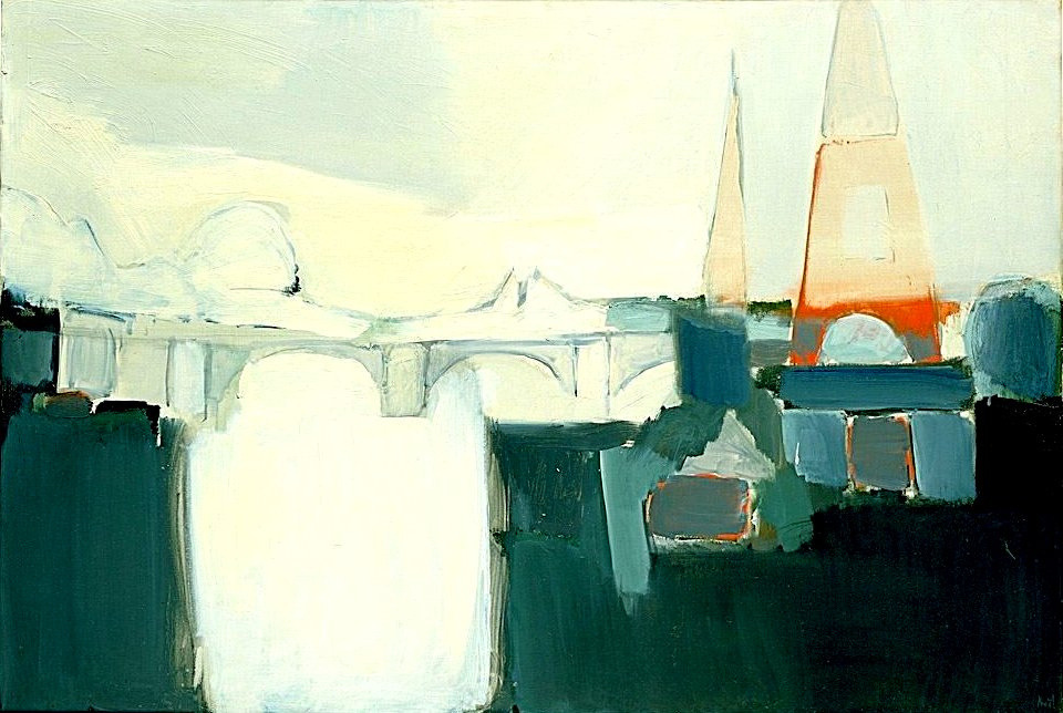 Stael, Nicolas de (1914-1955) - 1954 The Seine (Hirshhorn Museum and Sculpture Garden, Washington, DC) (by RasMarley)