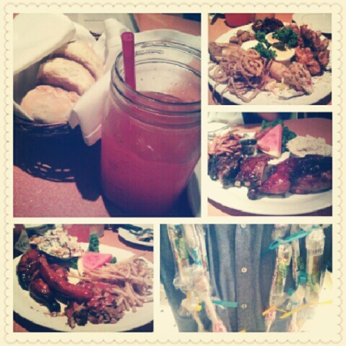 After-grad feast! #lucilles #bbq  (Taken with Instagram)