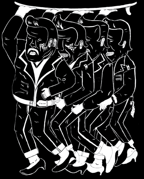 tranny greasers , screen print