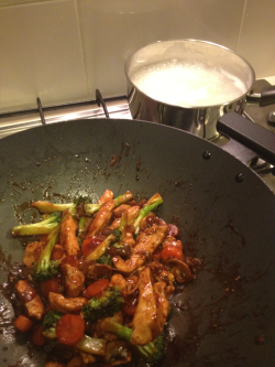 Stir fry with rice!