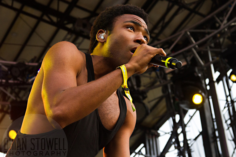 Loving this shot of Donald Glover that I took at Bonnaroo. Check it out full size - his eyes are really striking. I also love that you can see goosebumps on his arm. #feelinthis