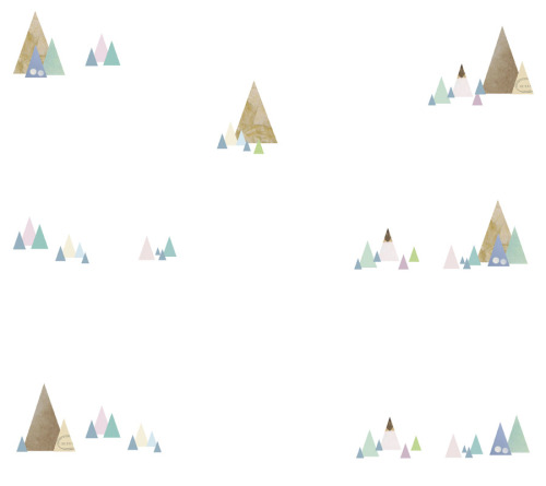 Mini Mountain Range wallpaper print.