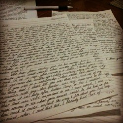First day, 3 page letter done. 6 more days to go. (Taken with Instagram)