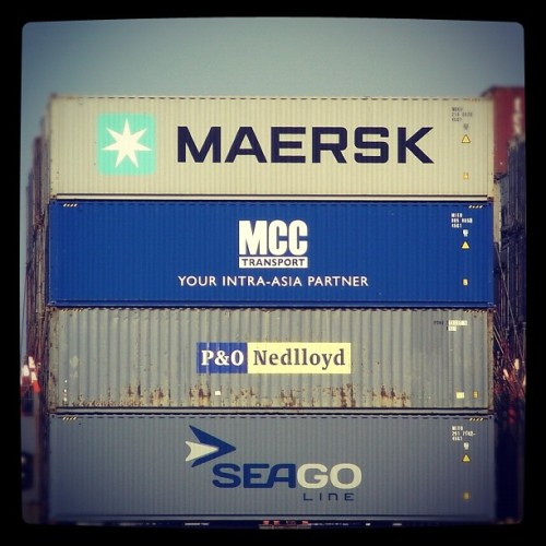 MCC Transport (our intra-Asia carrier) and Seago (our intra-Europe carrier) have now produced their first-ever batch of 6,000 and 3,500 containers respectively. These containers are now being transported to all parts of the world. Here's two of them en route from China to Indonesia on MCC Transport's IA-8 service… (Taken with Instagram)