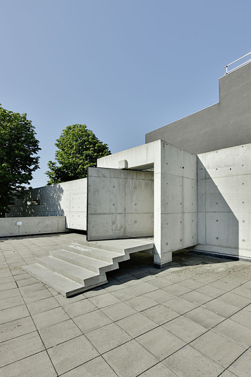 Academy of Art & Architecture by Wiel Arets Architects The heavy concrete door must have needed clever engineering.