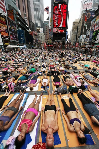 Yoga In Times Square Today!! So excited!! I'll be going to the 12:30 class so I hope maybe I can meet a few of you guys that can make it there :) I'm gonna try and take pictures!