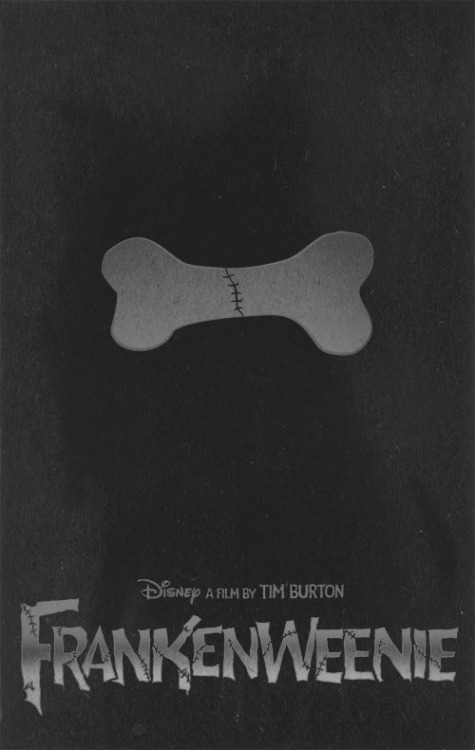Frankenweenie minimal poster on Minimal Movie Posters
