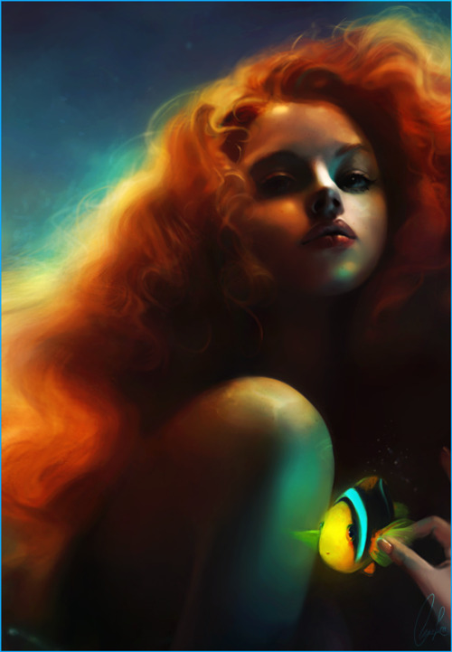 driveintheaterofthemind:  Ariel And Flounder by meirou  GORGEOUS.