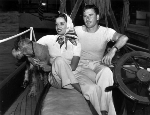 Errol Flynn (June 20, 1909 - October 14, 1959) with wife Lili Damita