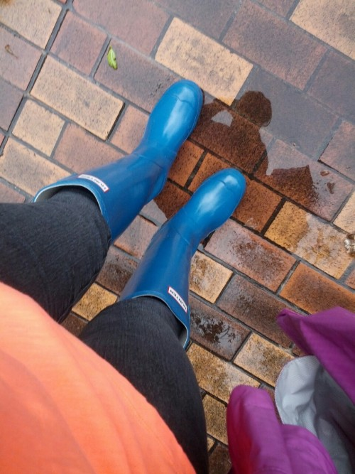 This is me, puddle jumping and refusing to ruin another pair of work shoes! Damn the man, save the empire!
