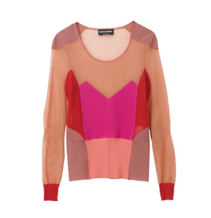 We love berry palettes! Jumper from Sonia Rykiel.