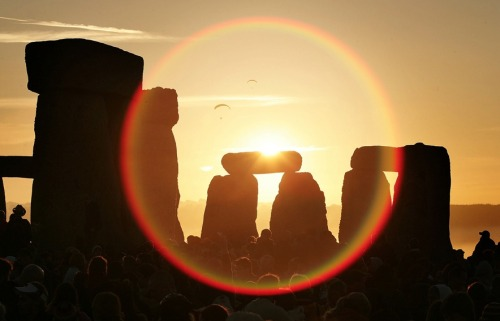 "Happy Summer Solstice, June 20, 2012, 7:09 p.m. Eastern Daylight Savings Time. The Latin translation for ""solstice"" is ""sun stands still.""  Summer Solstice, Stonehenge."
