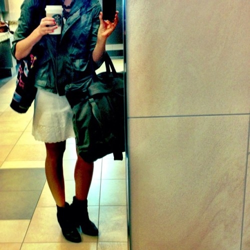 Soy Chai Latte + Rag & Bone boots… To boot. #atlantastyle #travelfashion (Taken with Instagram at the loo.)