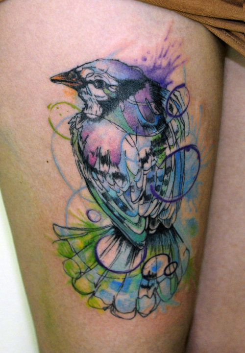 so-lou:  Watercolour bird by koraykaragozler  wow beautiful.