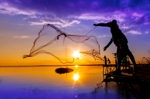 Fisherman of Thailand by nantaphon Chaiyaphum