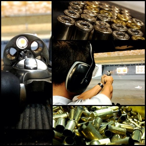 Gun range #357 #magnum #gold #guns #shot #range #ahdamnman (Taken with Instagram)